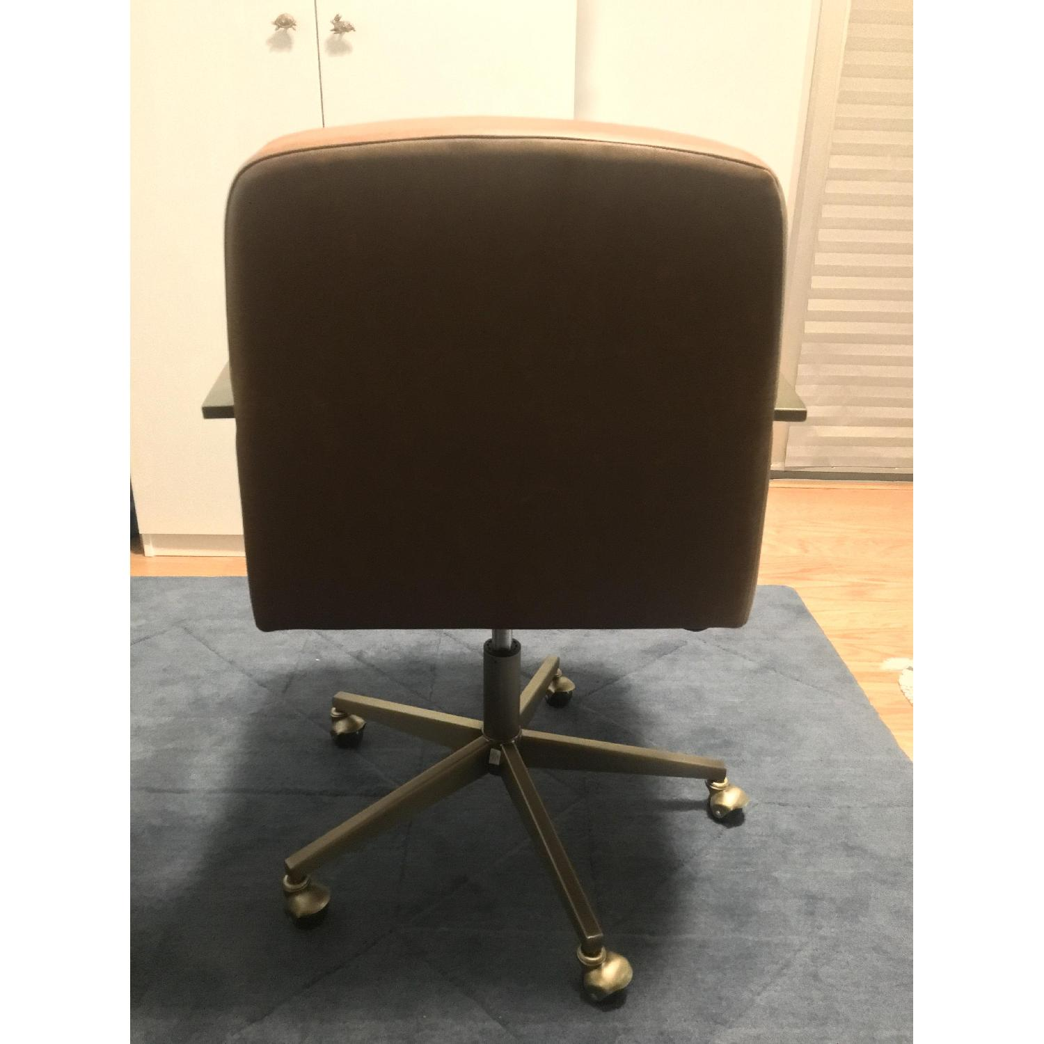 CB2 Draper Faux Leather Office Chair-2