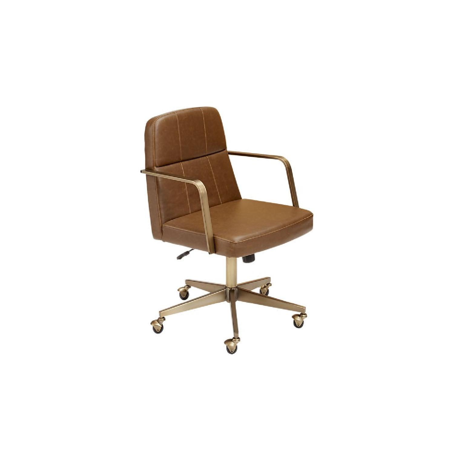 CB2 Draper Faux Leather Office Chair