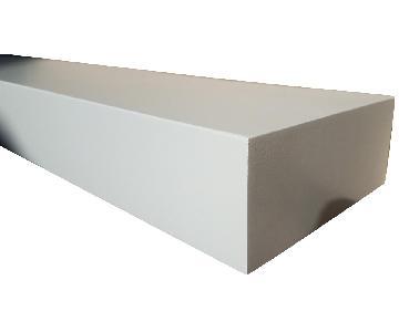 Long White Floating Mantel Shelf