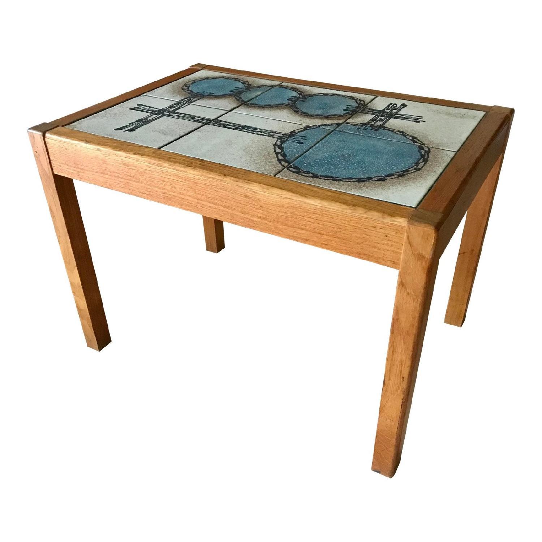 Gangso Mobler Organic Modern Vintage Danish Teak Side Table
