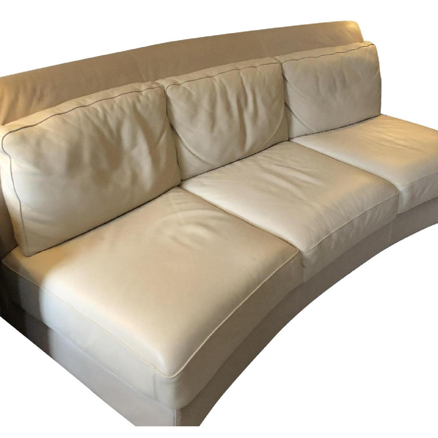 Chateau Du0027ax Ivory Leather Sofa ...