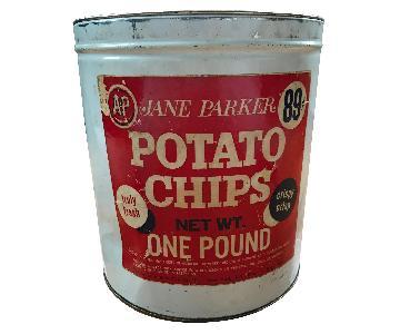 Vintage Potato Chips Tin
