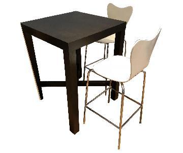 West Elm Parsons Bar Table w/ 2 Scoop-Back Stools
