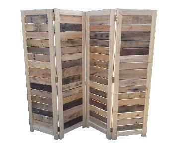 Handmade Reclaimed Wood Room Divider/Wall Screen