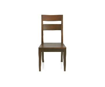 Crate & Barrel Basque Honey Wood Dining Chairs