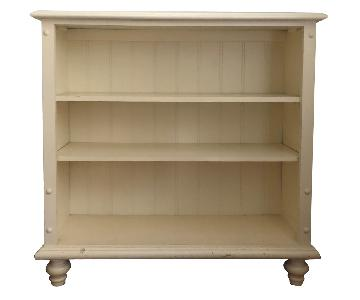 Solid Wood Bookcase in Buttermilk White