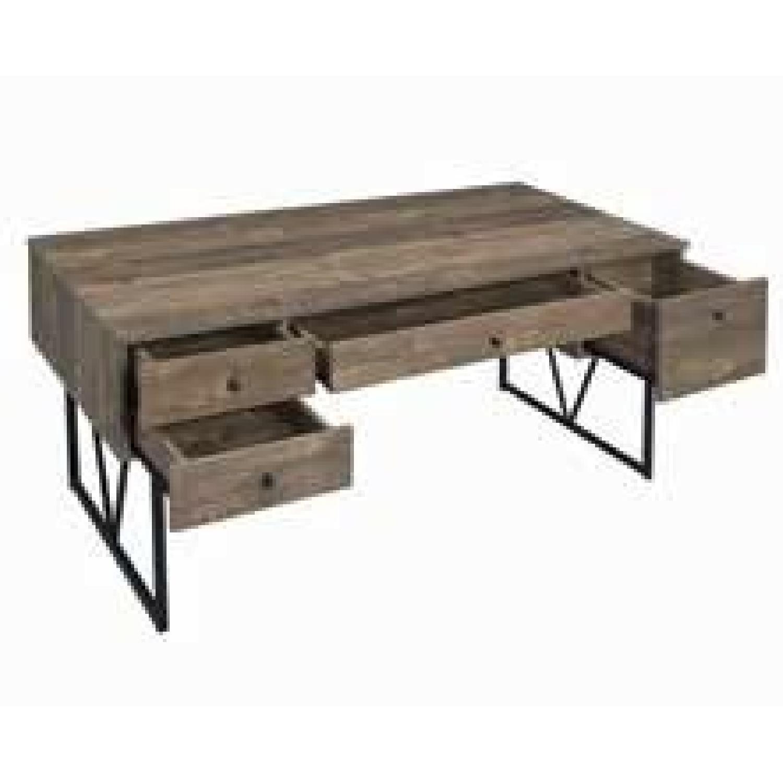 Modern Writing Desk in Rustic Oak Finish - image-0