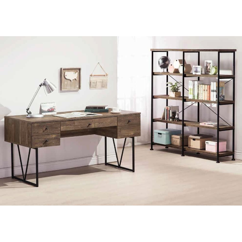 Modern Writing Desk in Rustic Oak Finish - image-3