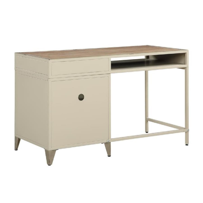 Modern Writing Desk in Rustic Oak Finish - image-4