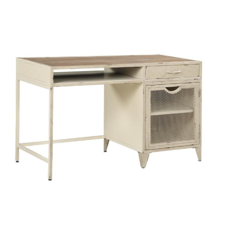 Modern Writing Desk in Rustic Oak Finish - image-5