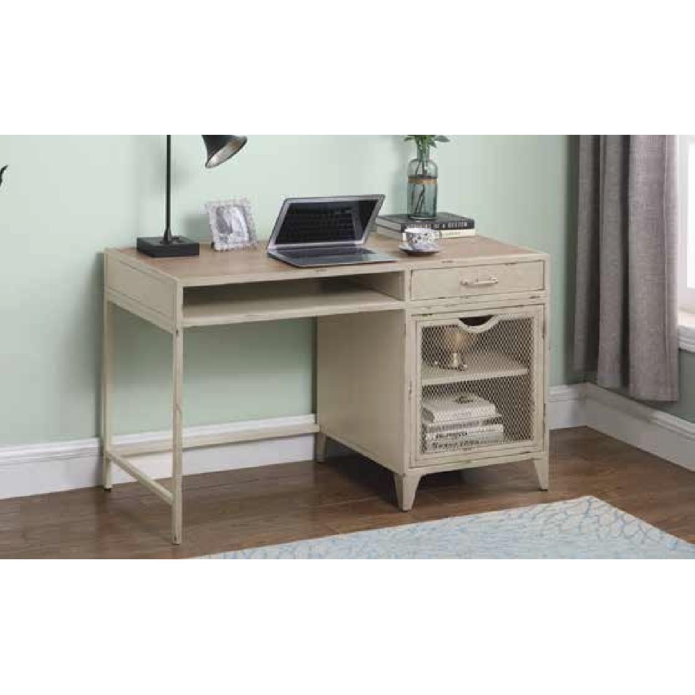 Modern Writing Desk in Rustic Oak Finish - image-10