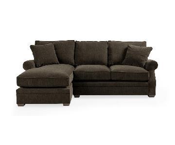 Arhaus Landsbury 2-Piece Sectional Sofa in Vessel Charcoal