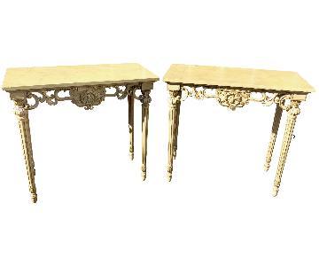19th Century Italian Neoclassical Console Tables