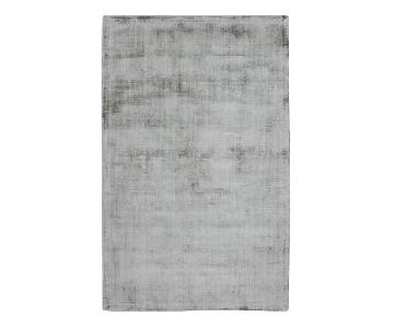 World Market Light Grey Tufted Viscose Gable Area Rug