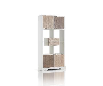 Furniture of America Dekisa Contemporary 2-Tone Bookshelf