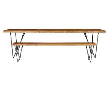 CB2 Dylan Dining Table w/ 2 Benches