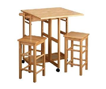 Breakfast Bar Table w/ 2 Stools