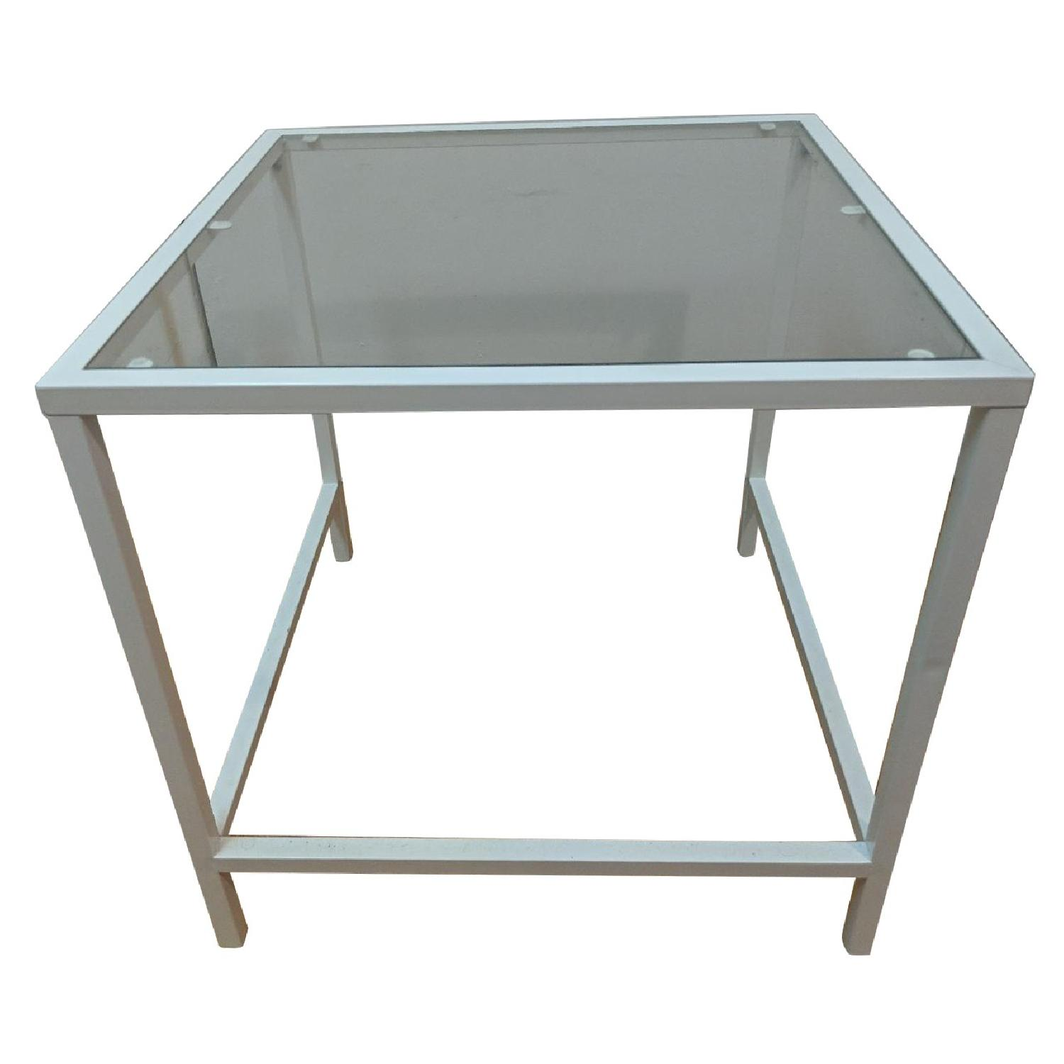 Ikea White Contemporary Side Table ...