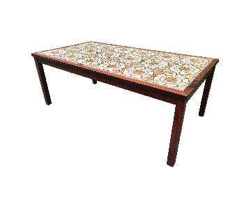 Vintage Danish Rosewood Tile Coffee Table