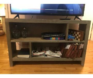 Home Goods Grey Wood TV Console