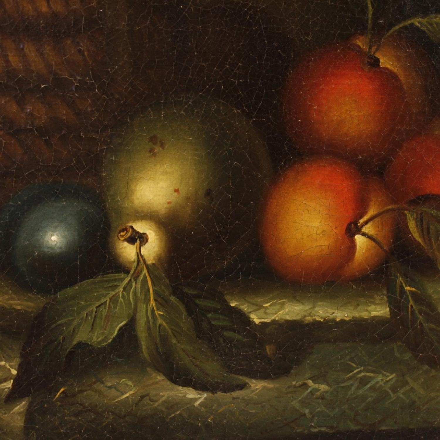 19th Century French Still Life Painting Oil On Canvas