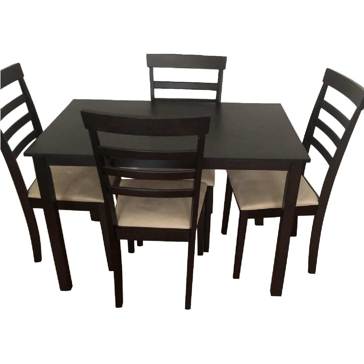 5 Piece Dining Set In Espresso Finish ...