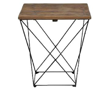 West Elm Angled Base Side Table