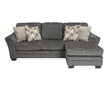 Ashley's Braxlin Sectional in Charcoal