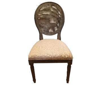 Restoration Hardware Vintage French Round Cane Back Dining Chair