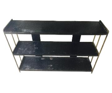 Vintage Industrial Metal Shelf Unit