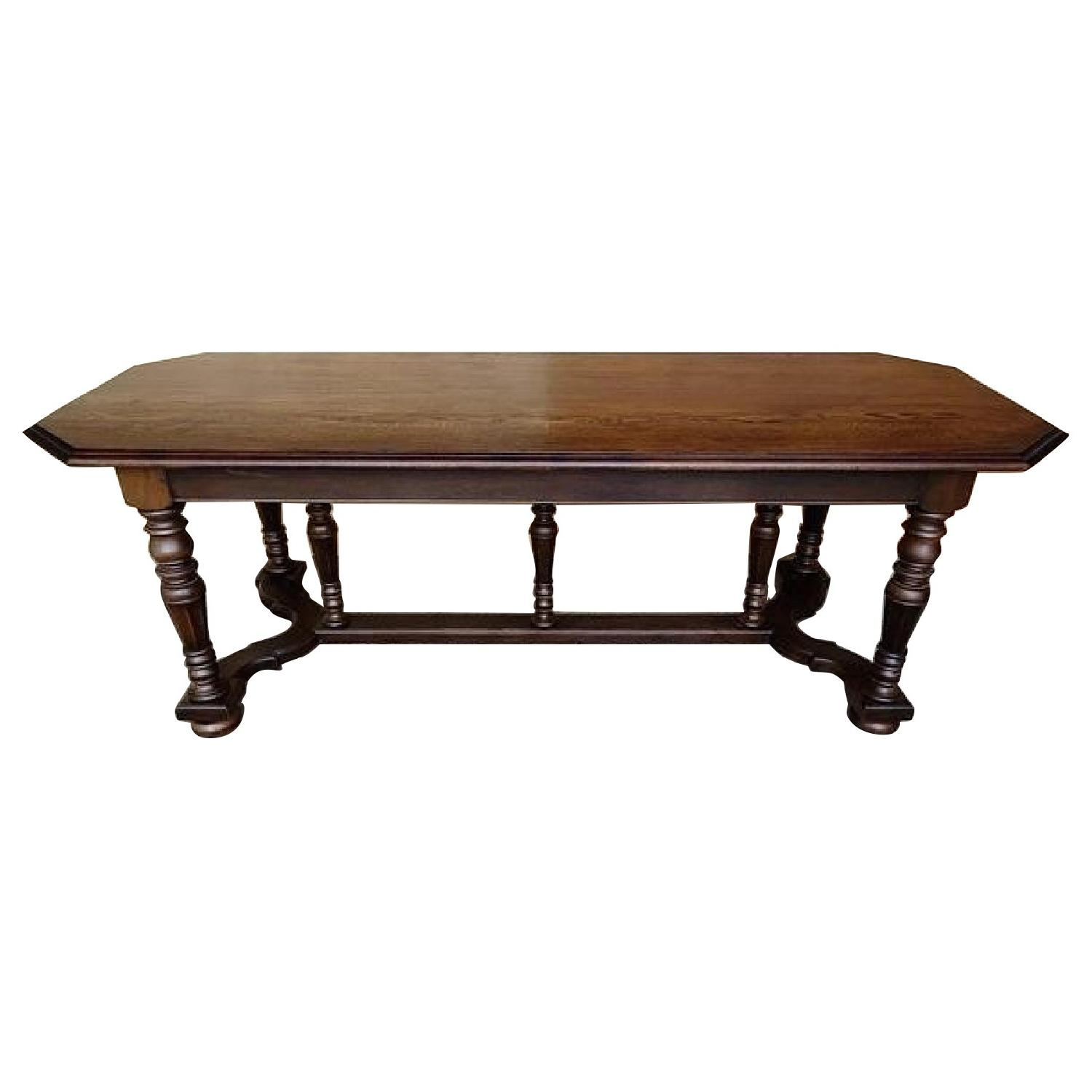 Vintage French Jacobean Revival Style Dining Table