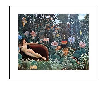 Henri Rousseau's The Dream 1910 Framed Fine Art Print