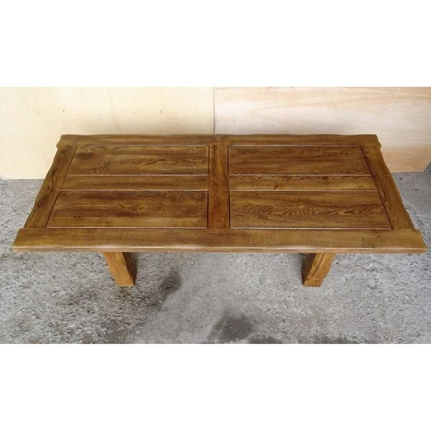 Vintage Live Edge French Oak Refectory Dining Table