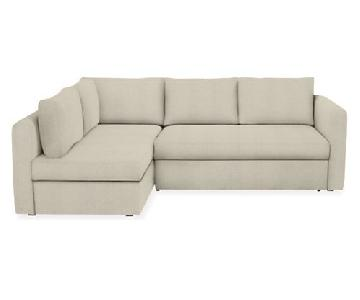 Room & Board Oxford Pop-Up Sleeper Sectional Sofa w/ Storage
