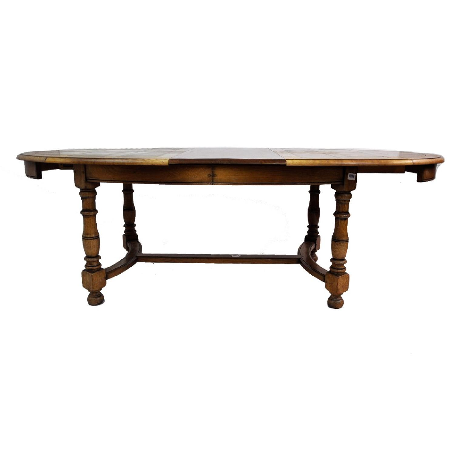 Vintage Oval French Oak Extendable Dining Table