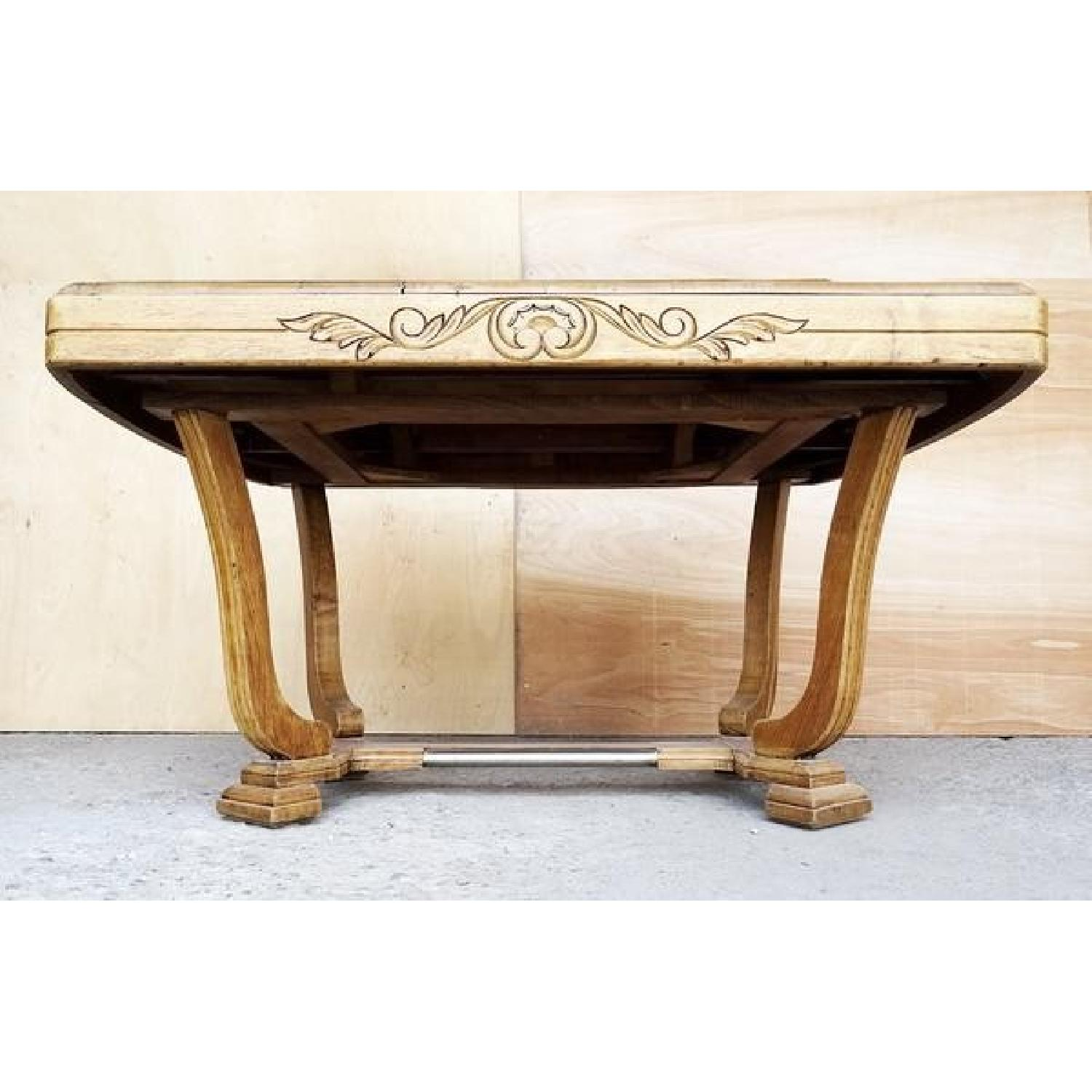Antique French Oak Art Deco Dining Table