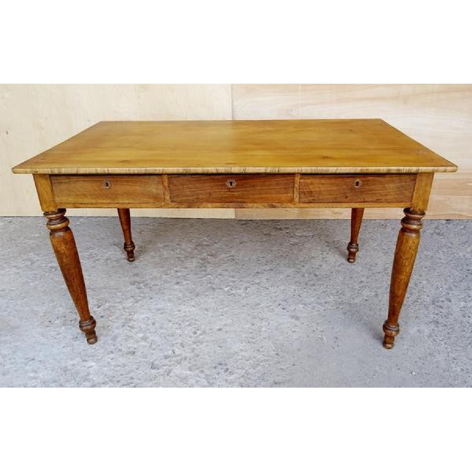 Antique Victorian French Country 3 Drawer Dining Table