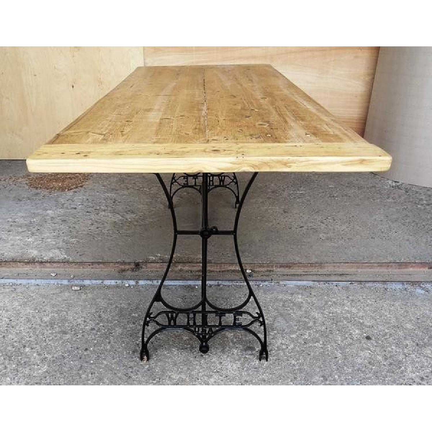 Vintage Handcrafted Natural Reclaimed Wood Dining Table