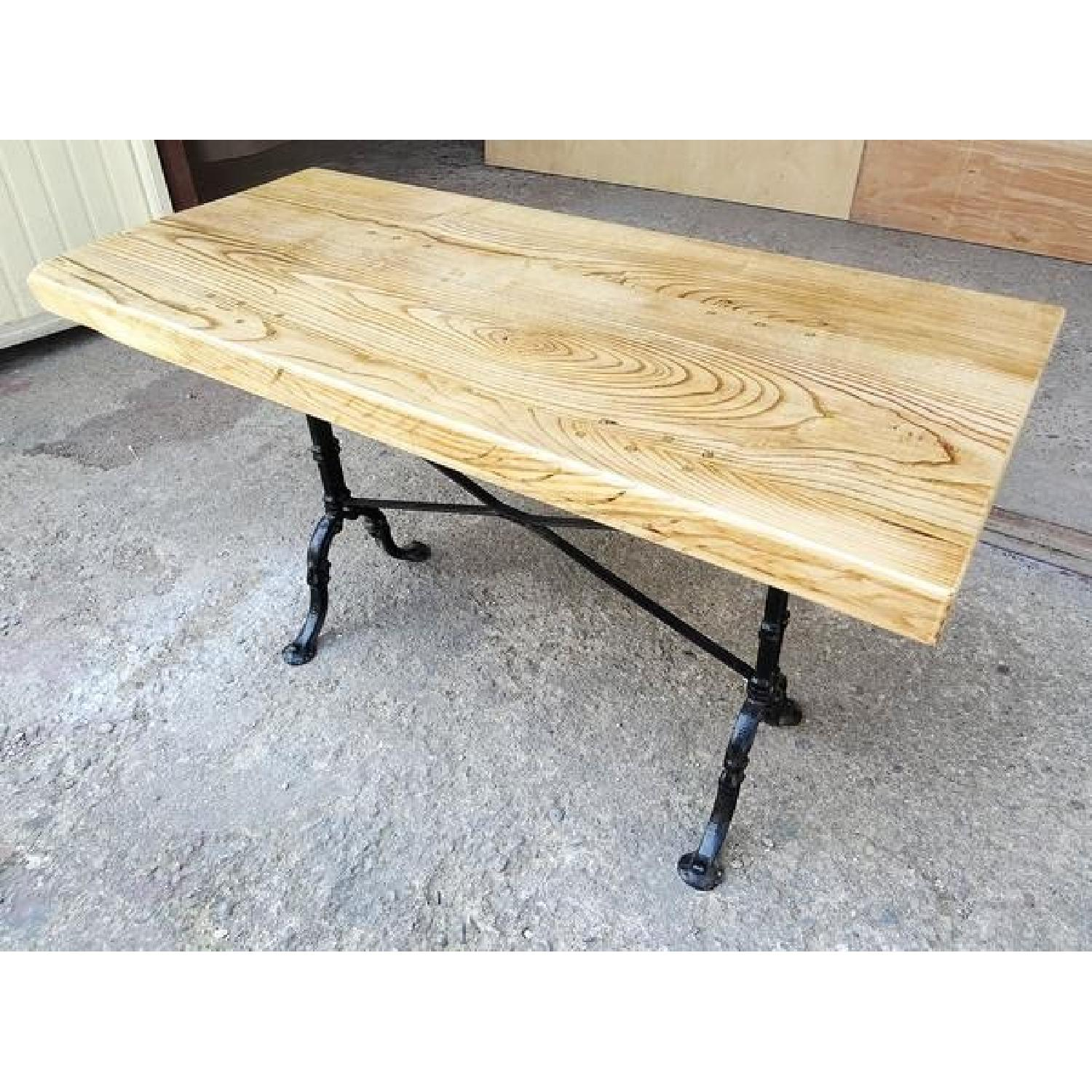 Vintage Handcrafted Reclaimed Pine Industrial Dining Table
