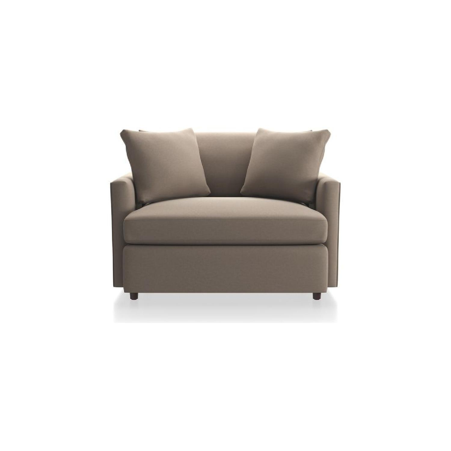 Crate U0026 Barrel Taupe Arm Chair ...