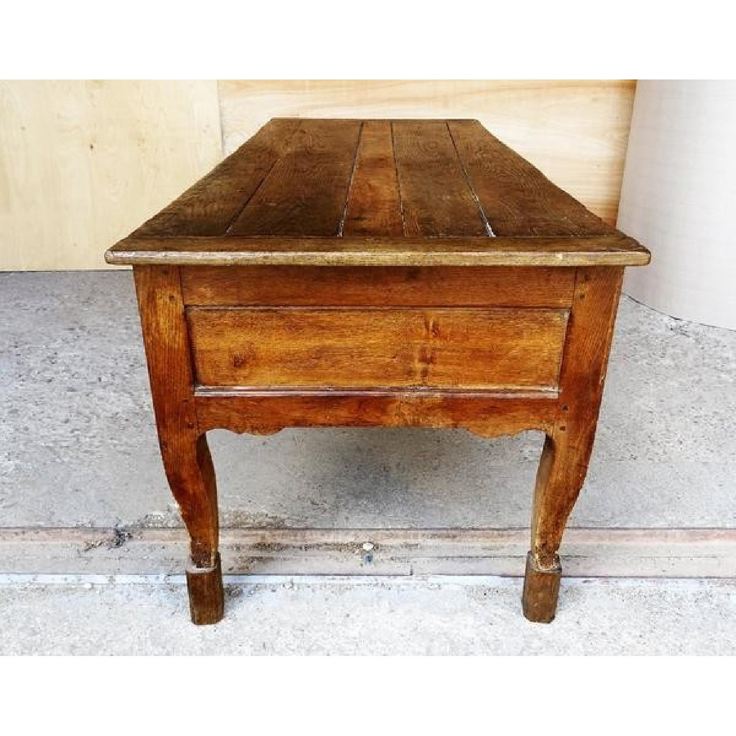 Antique Old Rustic French Country Dining Table
