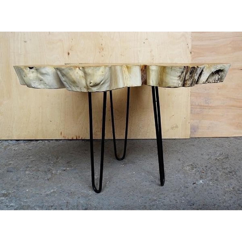 Indonesian Bali Teak Root Wood Resin Coffee Table