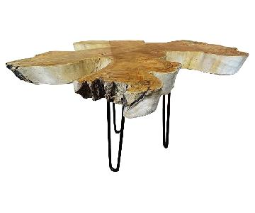 Indonesian Bali Teak Root Wood Resin Coffee Table