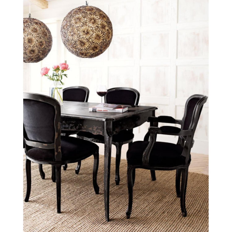 ABC Carpet Black Velvet Empress Dining Chairs