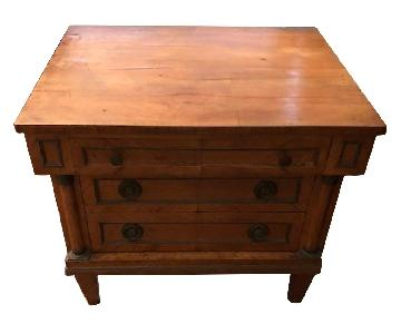 French Style Reproduction Cabinet/End Table