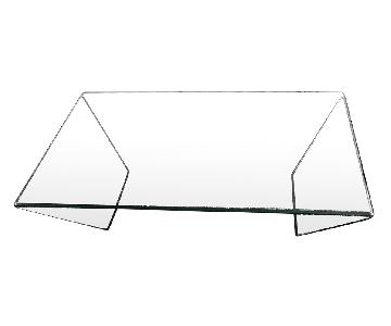Lazzoni Modern Glass Coffee Table