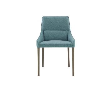 Ligne Roset Blue/Grey Suede Long Island Dining Chairs