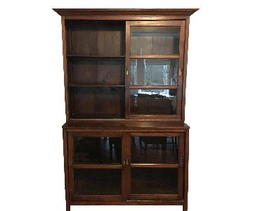 Becara Wood & Glass Cabinet/Bookcase