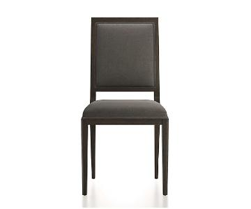 Crate & Barrel Grey Wood Dining Chairs