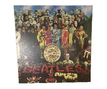 Beatles Sgt Pepper Cover Art on Stretched Archival Canvas